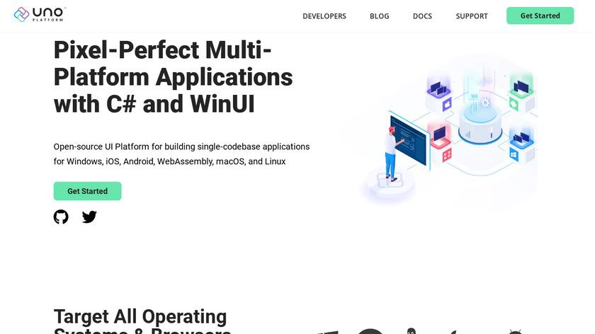 Uno Platform Landing Page