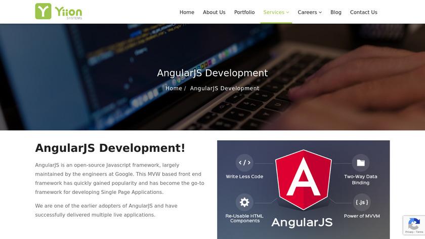 Angular Js Development Services Landing Page
