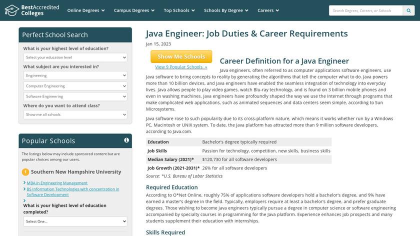 Java engineers Landing Page