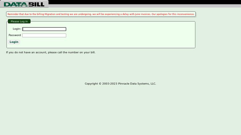 DATABILL Landing Page