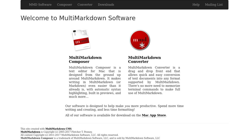 MultiMarkdown Composer Landing Page