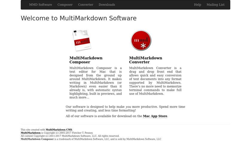 MultiMarkdown Composer Landing Page