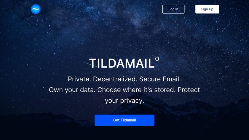 Tildamail Landing Page