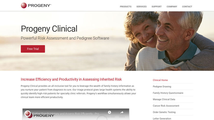 Progeny Clinical Landing Page