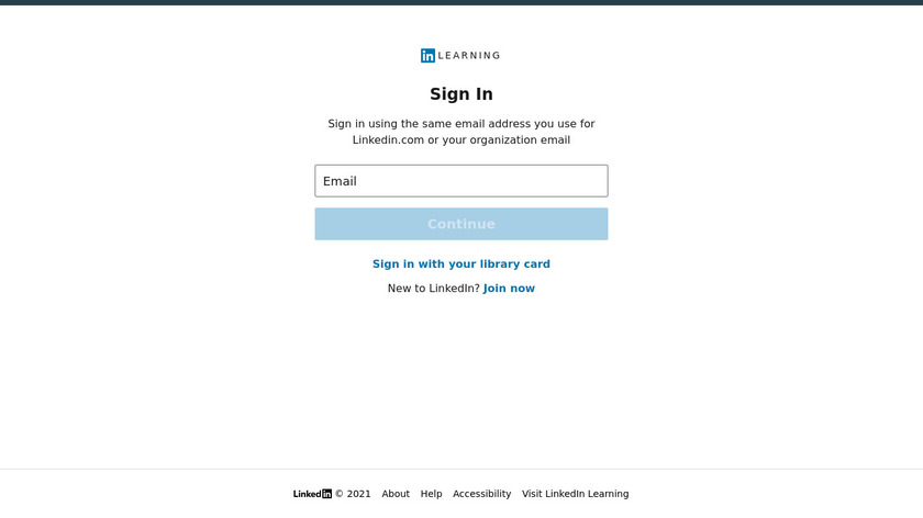 LinkedIn Learning Landing Page