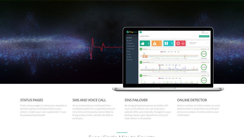 Pingmeter Landing Page