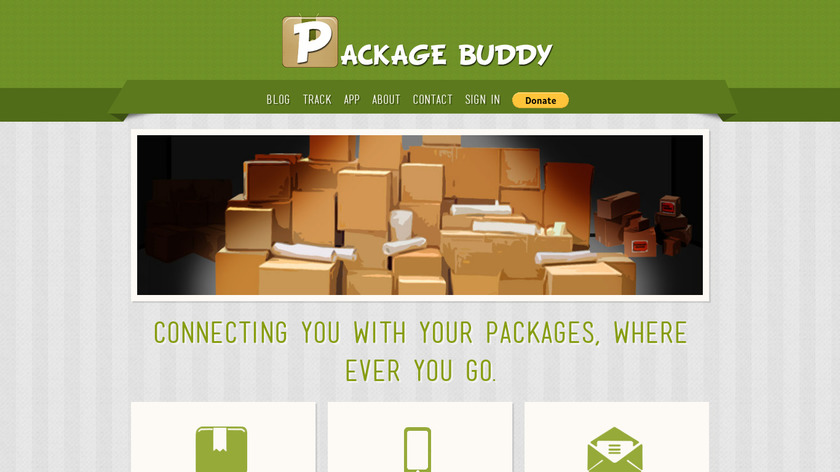 Package Buddy Landing Page