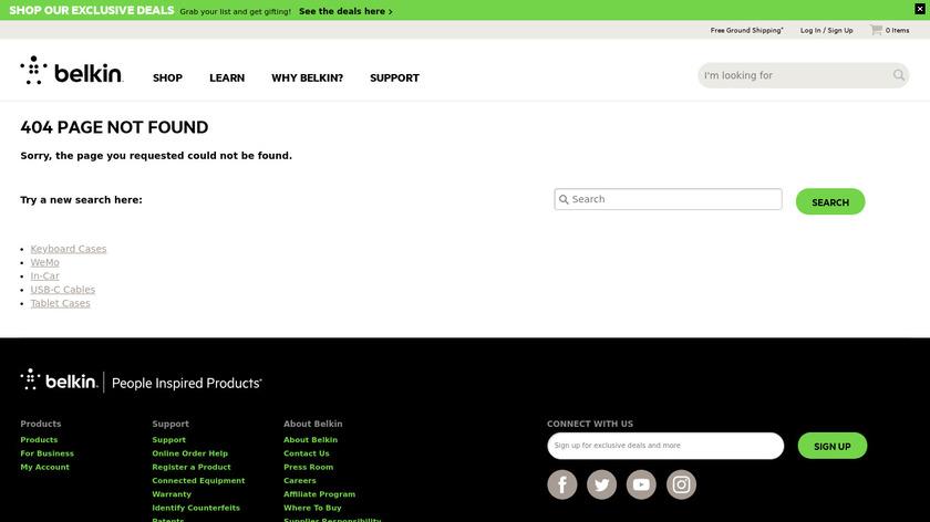 Belkin Loft Landing Page
