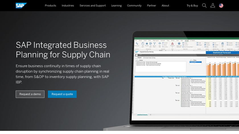 SAP Integrated Business Planning Landing Page