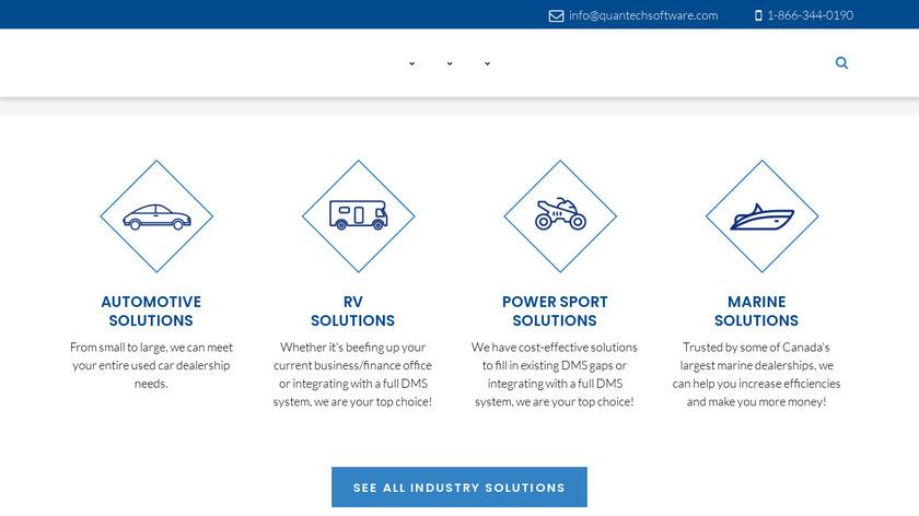Q-DMS Landing Page