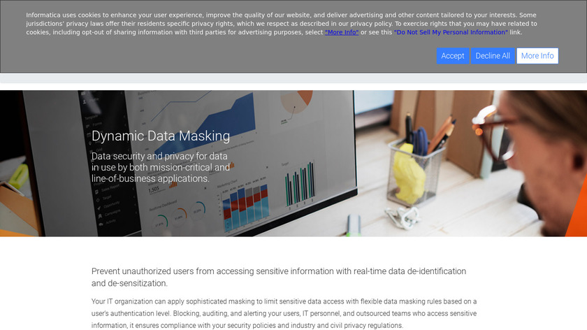 Informatica Dynamic Data Masking Landing Page
