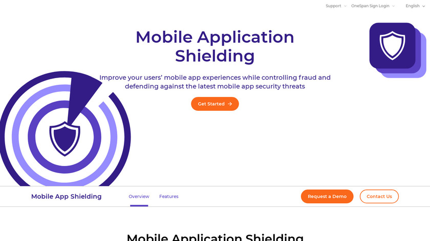 APP SHIELDING Landing Page