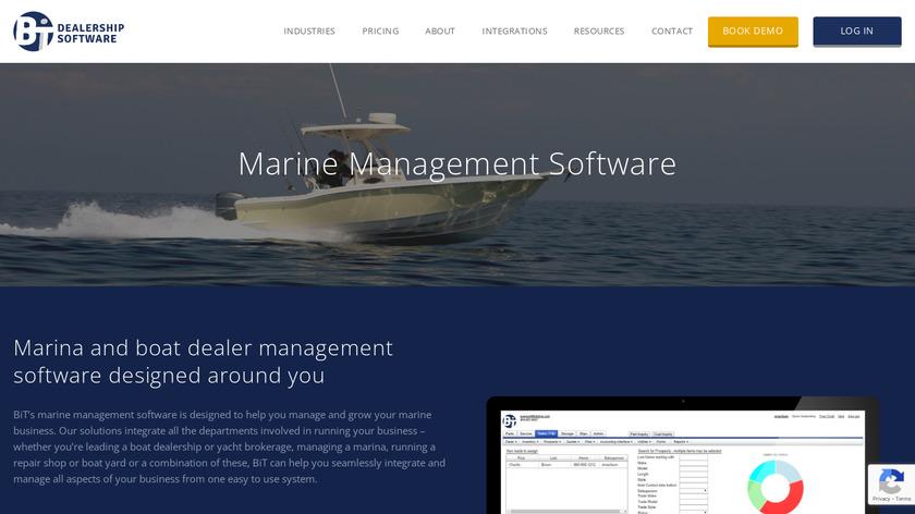 BiT Marine Software Landing Page