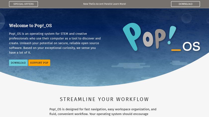 Pop!_OS Landing Page