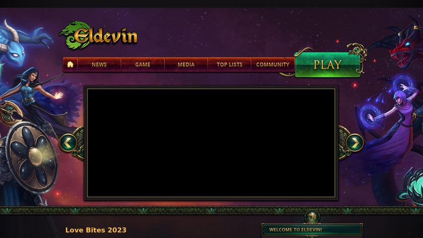 Eldevin Landing Page