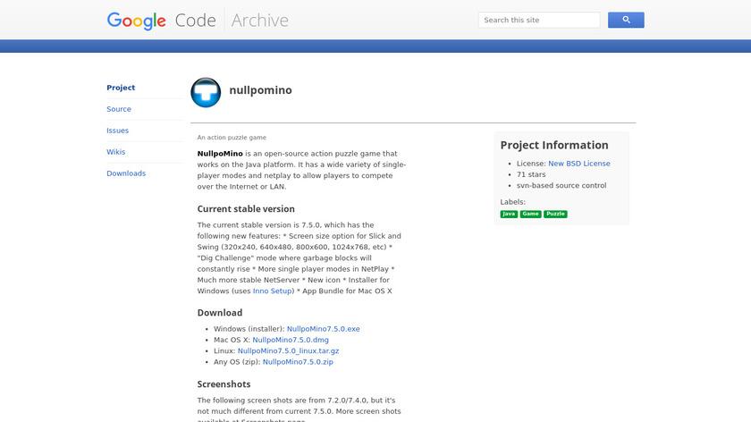 NullpoMino Landing Page