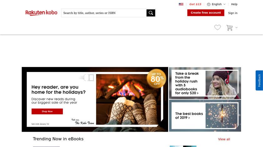 Kobo Books Landing Page