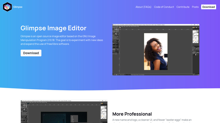 Glimpse Image Editor Landing Page