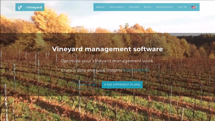 Vineyard Management Software Landing Page