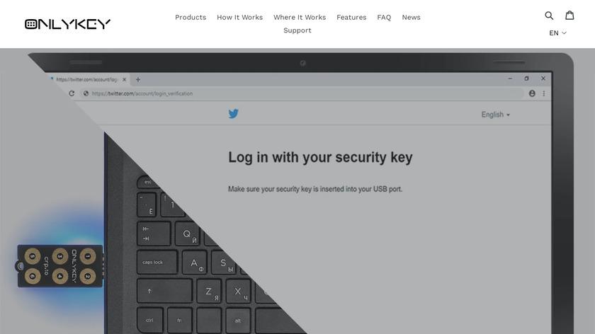 OnlyKey Landing Page