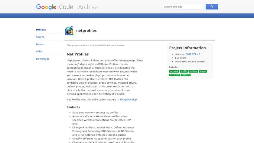 Net Profiles Landing Page