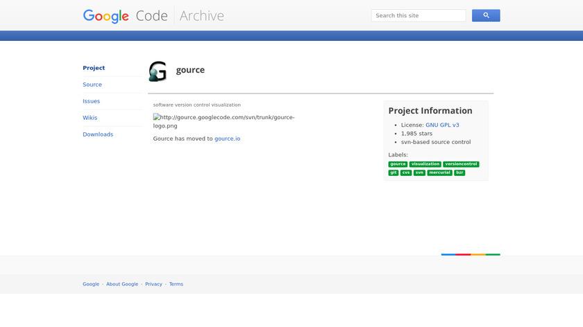 Gource Landing Page