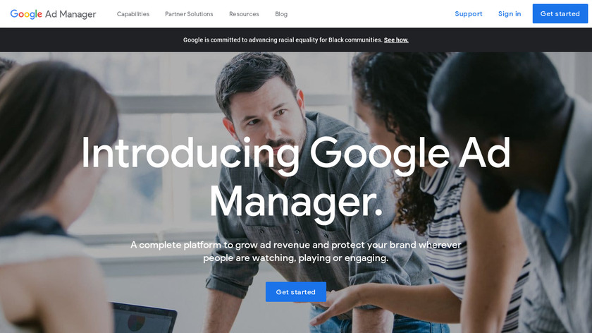Google Ad Manager Landing Page