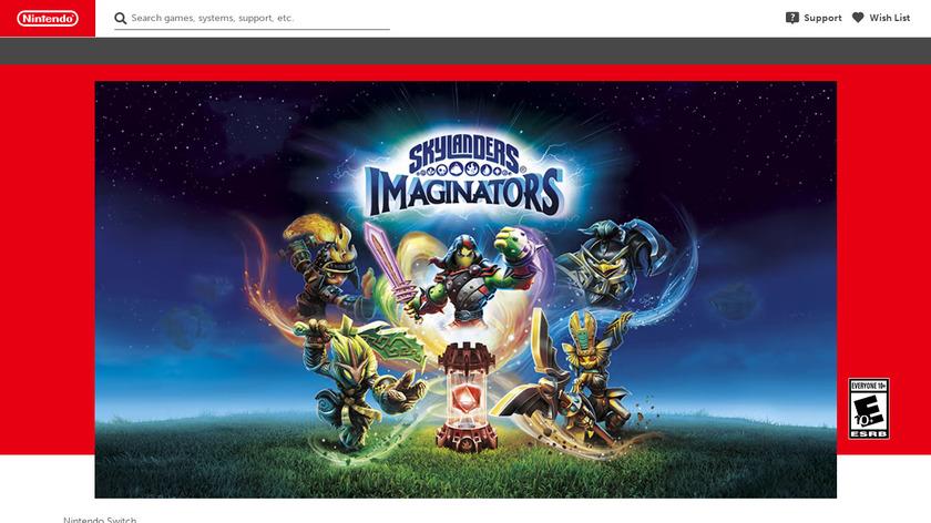 Skylanders Imaginators Landing Page