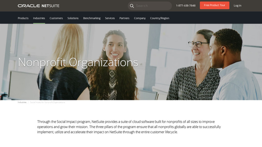 NetSuite for Nonprofits Landing Page