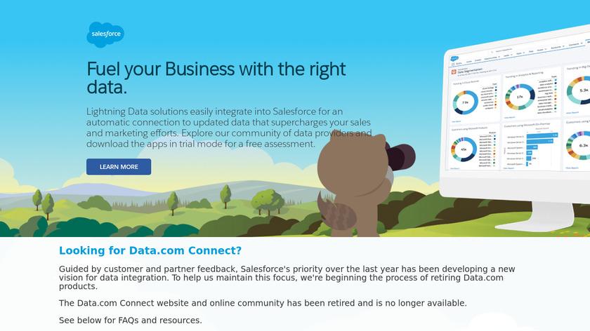 Salesforce Data.com Landing Page