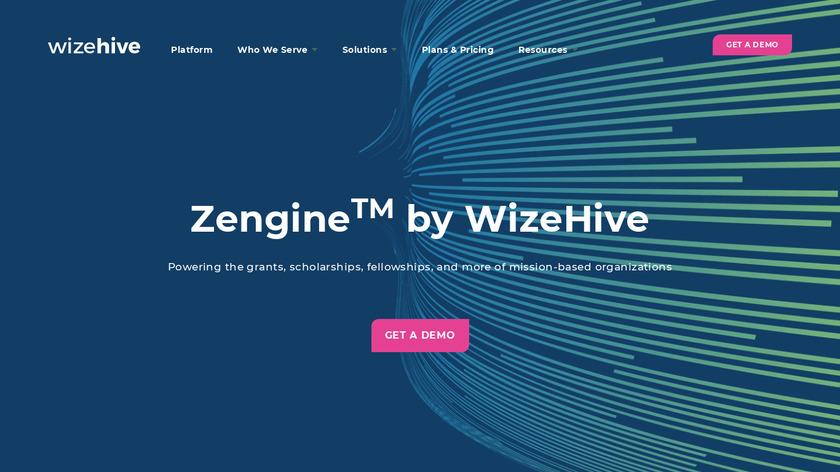 WizeHive Zengine Landing Page