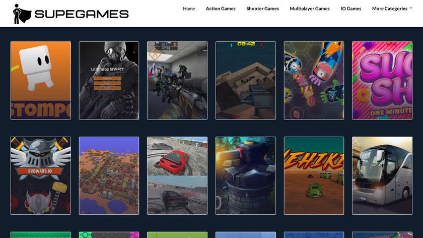 SupeGames Landing Page
