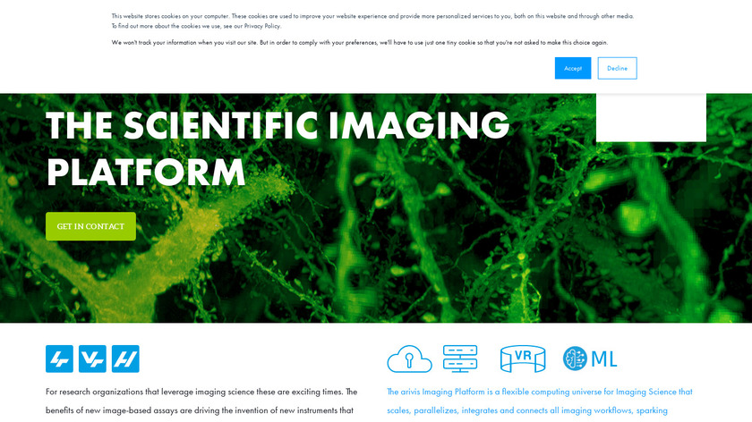 Vision4D Landing Page
