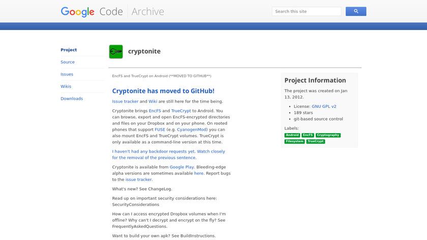Cryptonite Landing Page