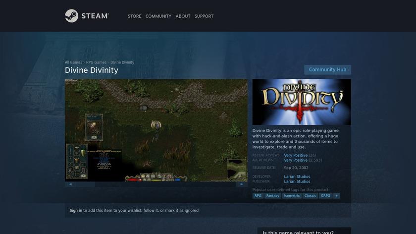 Divine Divinity Landing Page