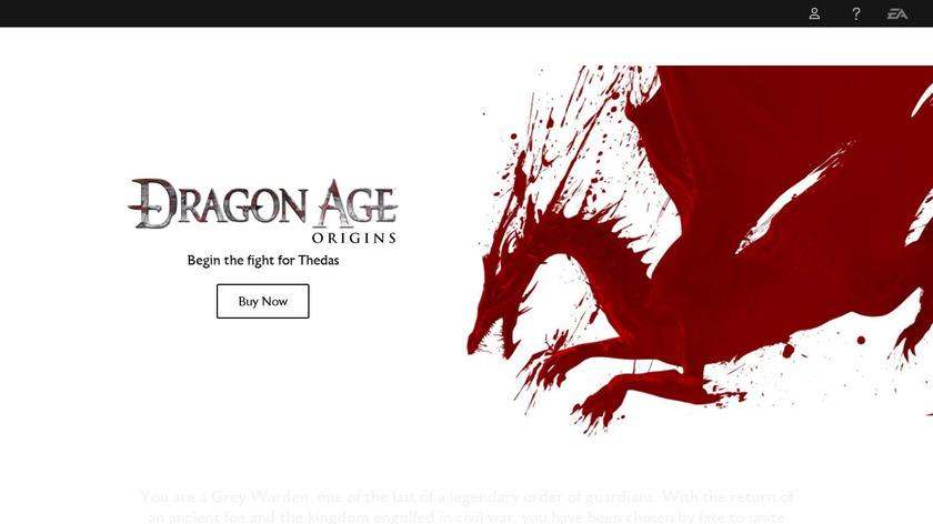 Dragon Age: Origins Landing Page