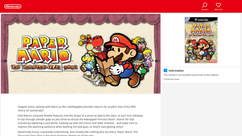 Paper Mario: The Thousand-Year Door Landing Page