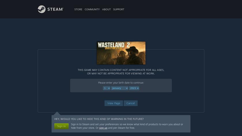 Wasteland 2 Landing Page