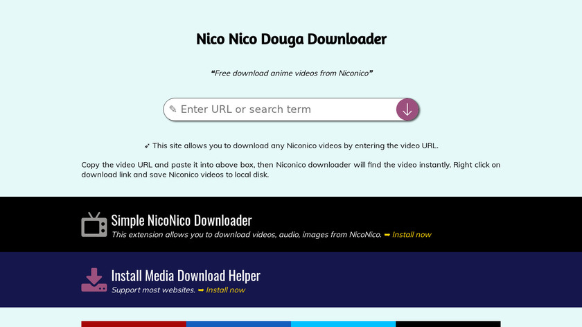 Nico Nico Douga Downloader Landing Page