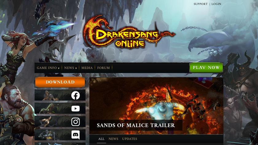 Drakensang Landing Page