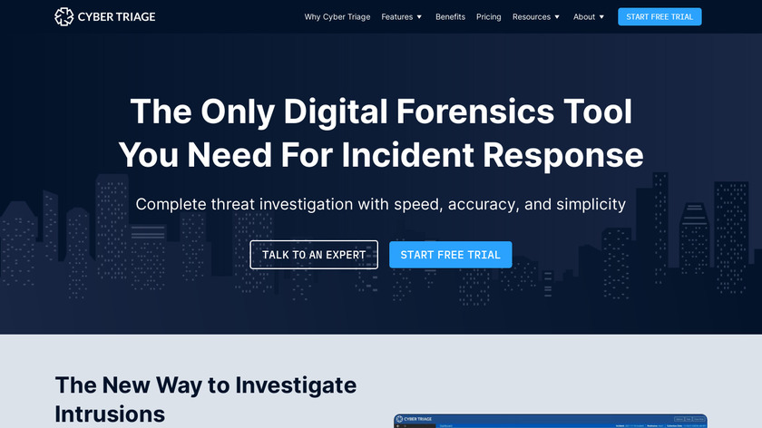 Cyber Triage Landing Page
