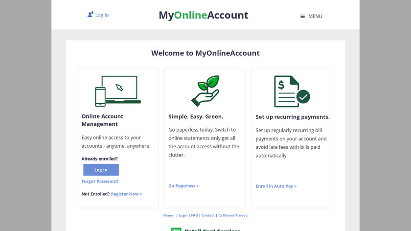 My Online Bill Pay Portal Landing Page