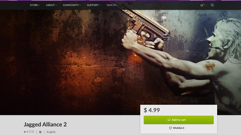 Jagged Alliance 2 Landing Page