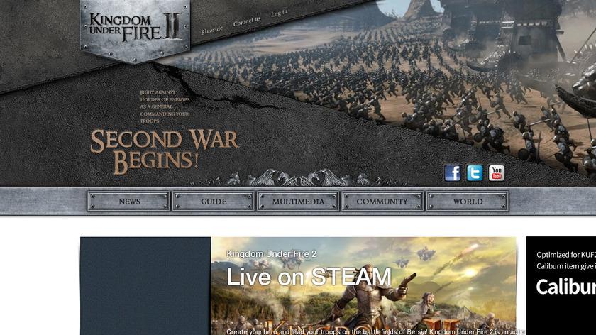 Kingdom Under Fire II Landing Page