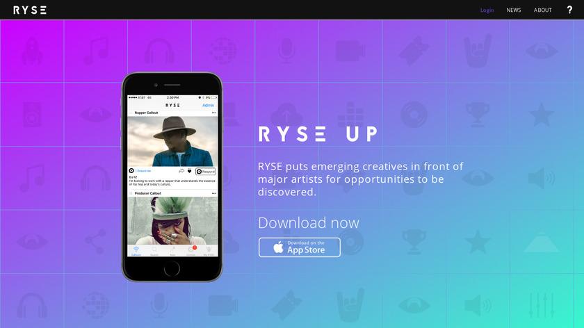 RYSE UP Landing Page