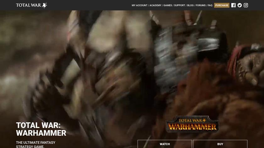 Total War: Warhammer Landing Page