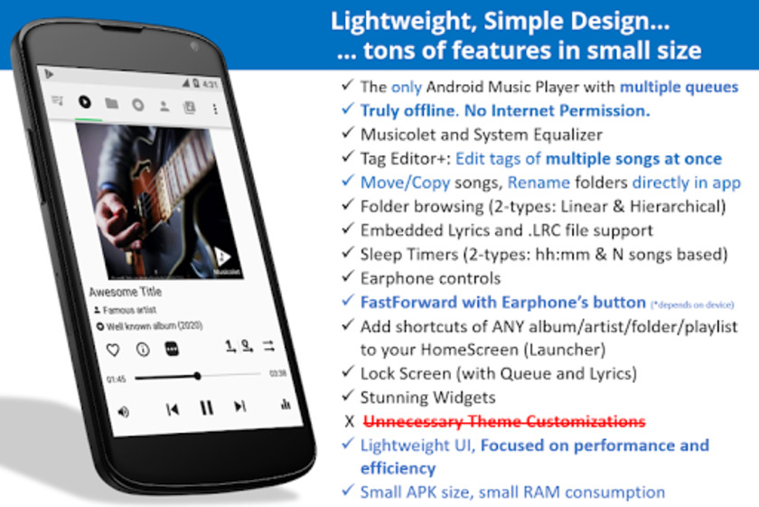 Musicolet Music Player Landing Page