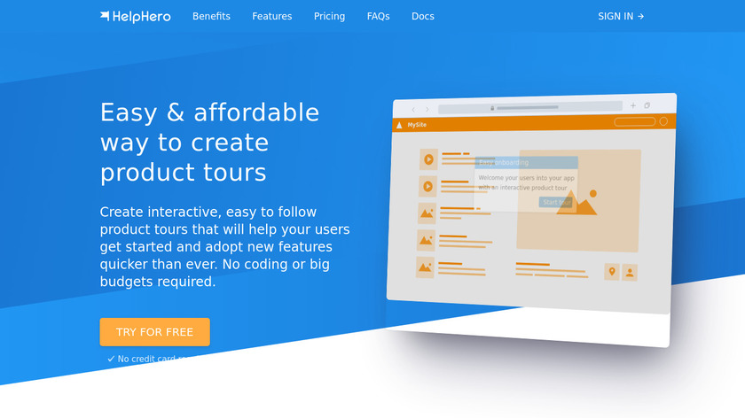 HelpHero Landing Page