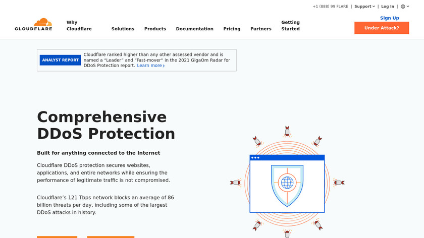CloudFlare DDoS Protection Landing Page