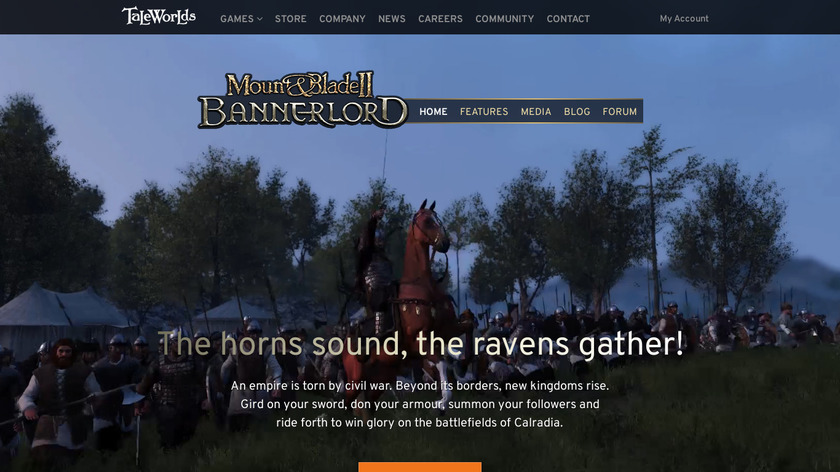 Mount & Blade II: Bannerlord Landing Page